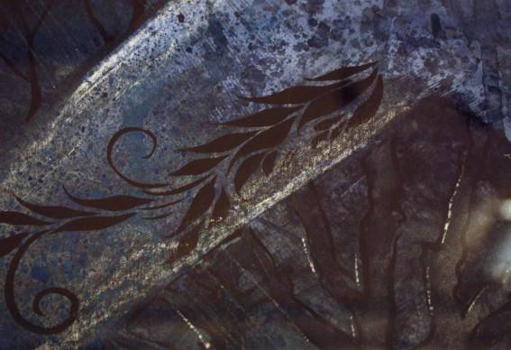 detalj ur akvarellserien Skogsnymf.