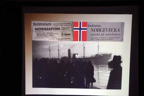 Stöd till norska flyktingar.