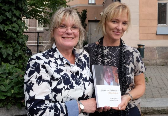 Kvinnliga grafiker Agneta Östlund o Susann Idervall